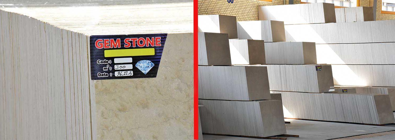 نمایی از کارخانه سنگ و سنگبری جم استون